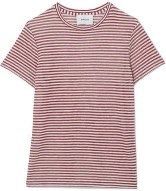 Nanushka Guy 条纹亚麻混纺平纹针织 T 恤