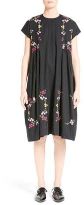 Women's Tricot Comme Des Garcons Embroidered Cotton Shift Dress $804 thestylecure.com
