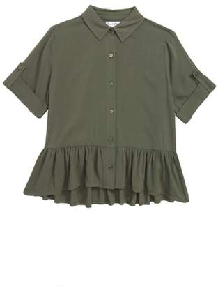 Love, Fire Ruffle Hem Shirt
