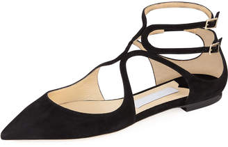 Jimmy Choo Lancer Suede Pointed Flat
