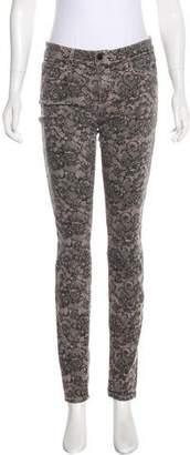 Joe's Jeans Mid-Rise Printed Pants