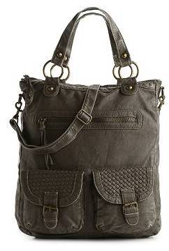 Poppie Jones Washed Double Pocket Tote