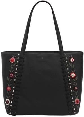 Kate Spade Cherie Floral Appliqués Leather Tote Bag