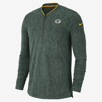 Nike Coach (NFL Packers) Men's Half-Zip Long Sleeve Top
