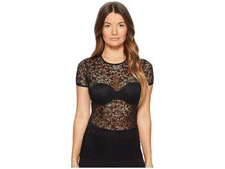 Versace Elastic Barock Lace T-Shirt MC Women's T Shirt