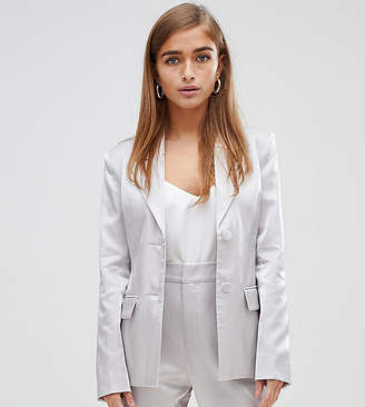 Fashion Union Petite metallic blazer co-ord