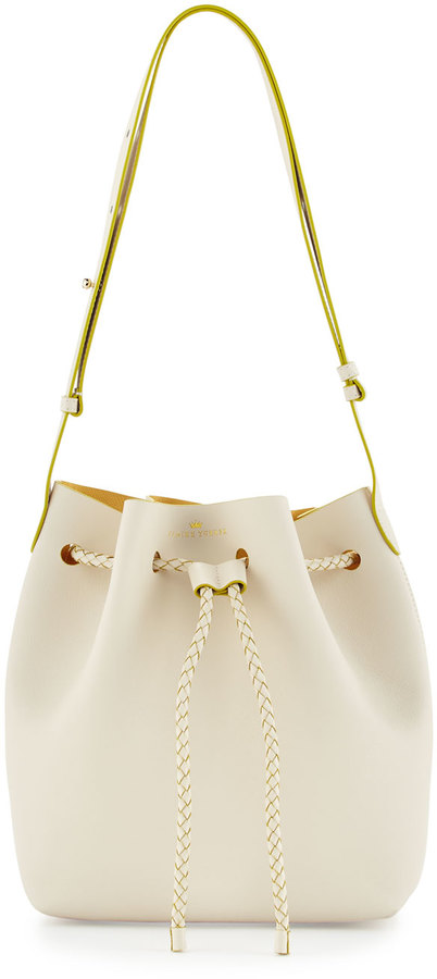 Elaine Turner The Reserve Saffiano Bucket Bag, Eggshell