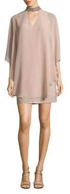 Xscape Evenings High Neck Overlay Dress