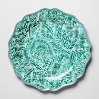 """Opalhouse Melamine Dinner Plate 10.5"""" Green Floral"""