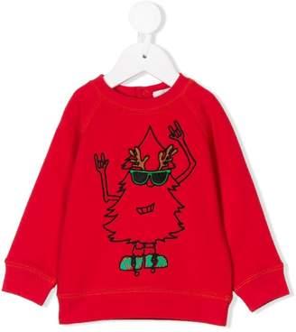 Stella McCartney christmas tree print sweatshirt