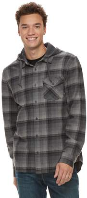 Vans Men's Shadowed Hooded Button-Down Shirt