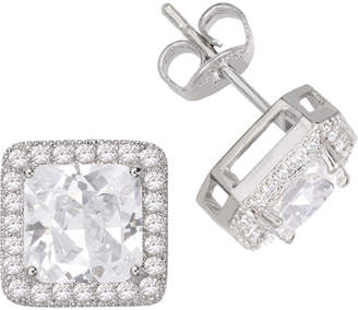 JCPenney SPARKLE ALLURE Sparkle Allure Pure Silver-Plated Square Cubic Zirconia Earrings