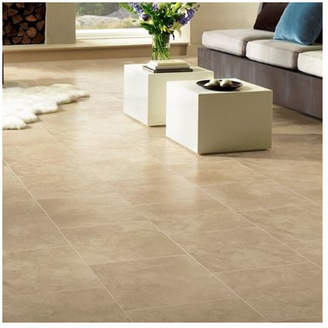 """Armstrong Flooring Stones and Ceramics 15.94"""" x 47.75"""" x 8.3mm Tile Laminate Flooring in Limestone Linen Sand"""