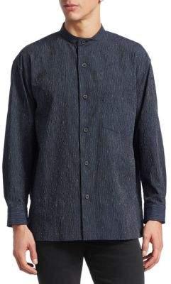 Issey Miyake Crush Button-Down Shirt
