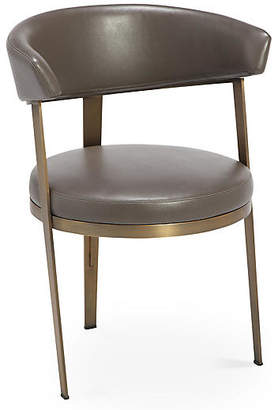 Interlude Adele Side Chair - Gray Leather