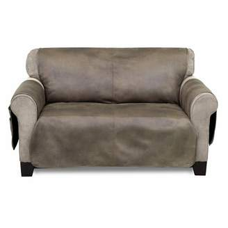 Serta Faux Leather Furniture Protector With Neverwet Loveseat Slipcover Fawn