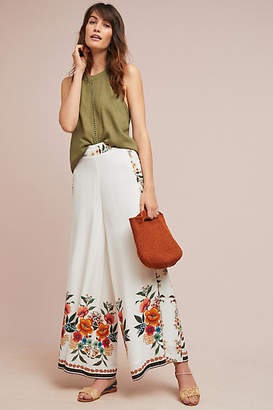 Anthropologie Farm Rio for Farm Rio Melila Floral Flared Pants