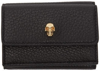 Alexander McQueen Black Mini New Skull Wallet