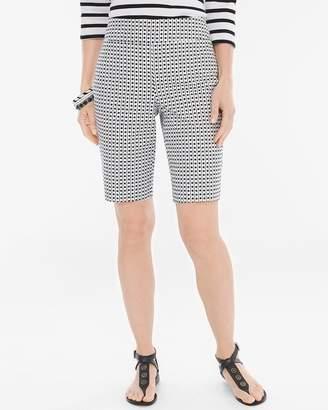 BRIGITTE So Slimming Geometric Dot Shorts- 11 Inch Inseam