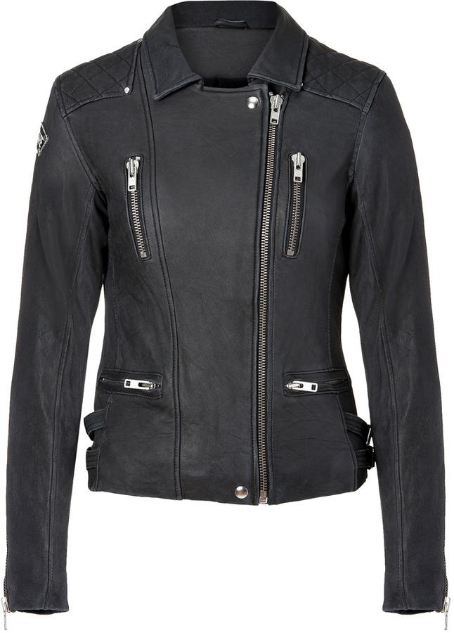 Iro Black Leather Sofia Biker Jacket