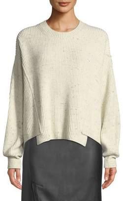 Vince Paneled Crewneck Pullover Sweater
