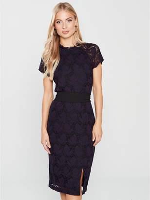 Phase Eight Henrietta Lace Dress - Black/Deadly Nightshade