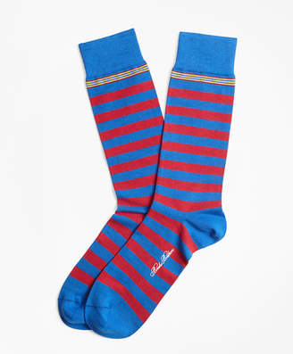 Brooks Brothers Rugby Stripe Crew Socks