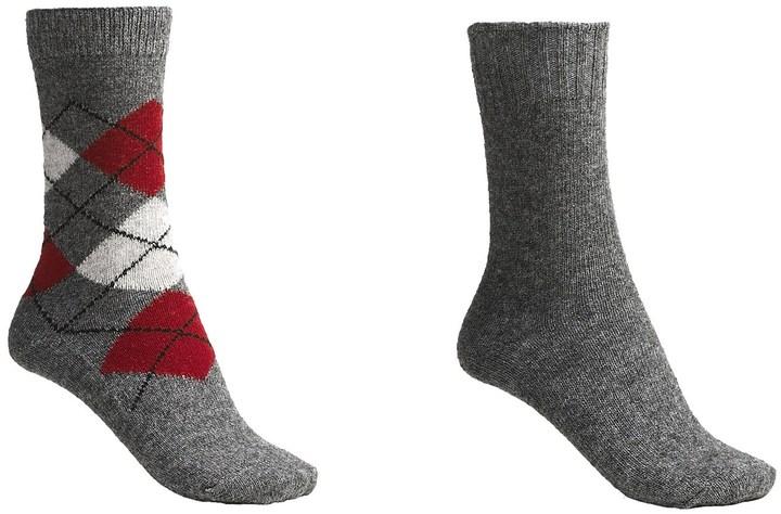 B.ella Argyle-Solid Socks - Wool-Cashmere Blend, 2-Pack (For Women)