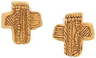 Christian Lacroix Pre-Owned cross clip-on earrings