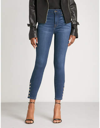 Good American Good Legs Snaps skinny cropped high-rise jeans