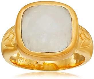 Satya Jewelry Moonstone Square Lotus Ring