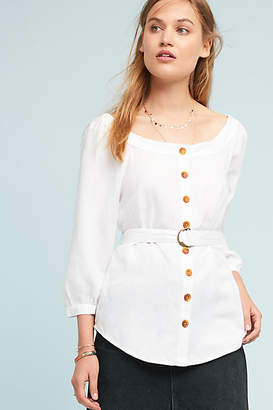 Maeve Alanis Belted Blouse