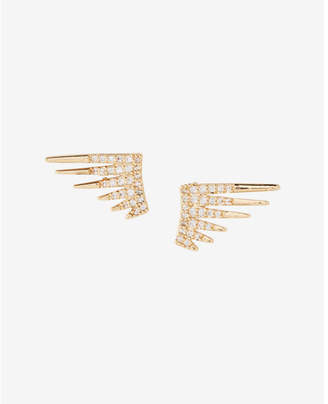 Express Embellished Spike Post Earrings $19.90 thestylecure.com