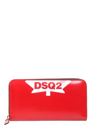 DSQUARED2 Zip Around Leather Wallet
