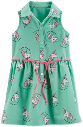 Carter's Carter Toddler Girls Unicorn Shirtdress