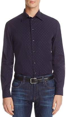 Armani Collezioni Polka Dot Classic Fit Button-Down Shirt