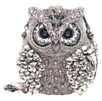 Mary Frances Silver Owl Handbag