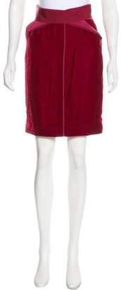 Zac Posen Silk-Blend Velvet Skirt w/ Tags