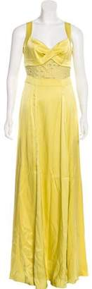 Temperley London Silk-Blend Evening Dress