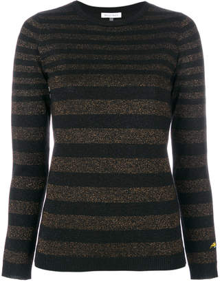 Bella Freud Disco striped lurex jumper