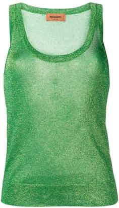 Missoni glitter tank top