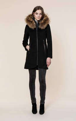 Soia & Kyo CHARLENA-R slim-fit wool coat with removable bib
