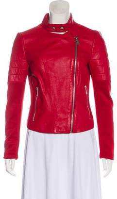 Pinko Leather-Accented Biker Jacket