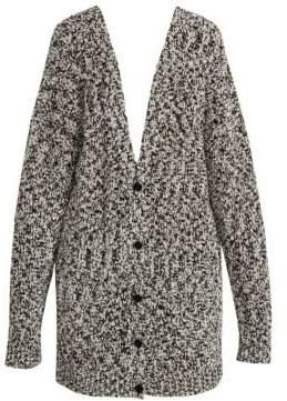 Loewe Women's Lurex Knit Button-Front Cardigan - Light Grey - Size Small