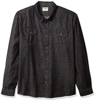 Wrangler Authentics Men's Authentics Big & Tall Long Sleeve Classic Woven Shirt