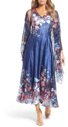 Women's Komarov Maxi Dress & Shawl $358 thestylecure.com