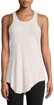 Frank And Eileen Base Layer Scoop-Neck Cotton Tank, White