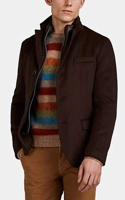 Herno Men's Cashmere Melton Coat - Brown