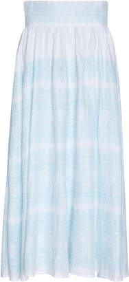 Thierry Colson Trish Lace Print Linen Skirt
