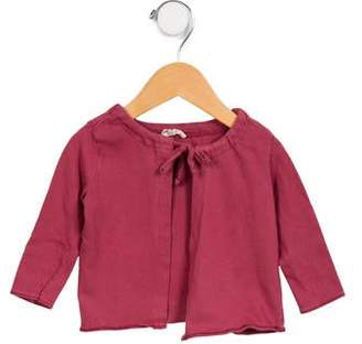Babe & Tess Girls' Long Sleeve Tie-Accented Cardigan